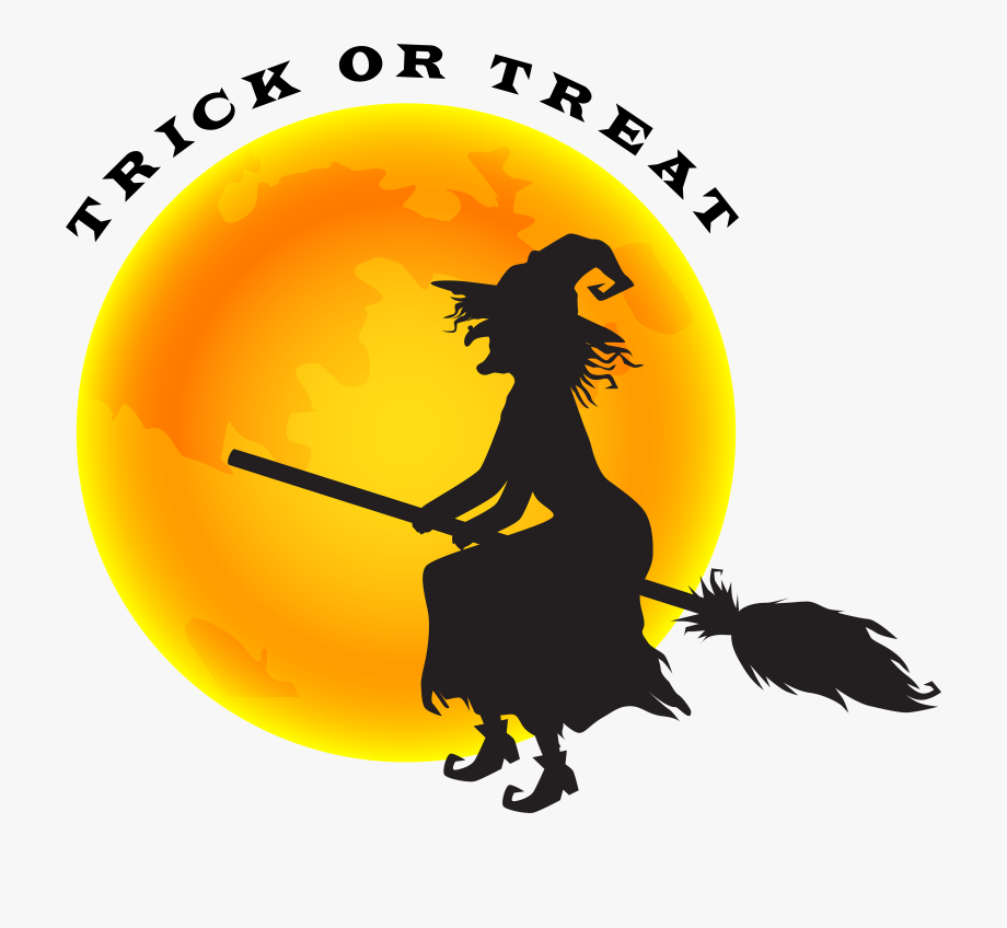 Halloween Witch And Moon Png Clip Art Image #369073.
