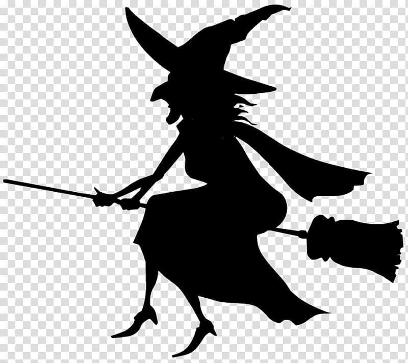 Witchcraft Black and white , Halloween transparent background PNG.