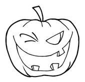 Clip Art of Halloween Pumpkin k5152878.