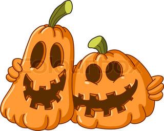 Cute baby in a pumpkin costume celebrating halloween.