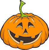 Pumpkin Character Clip Art.