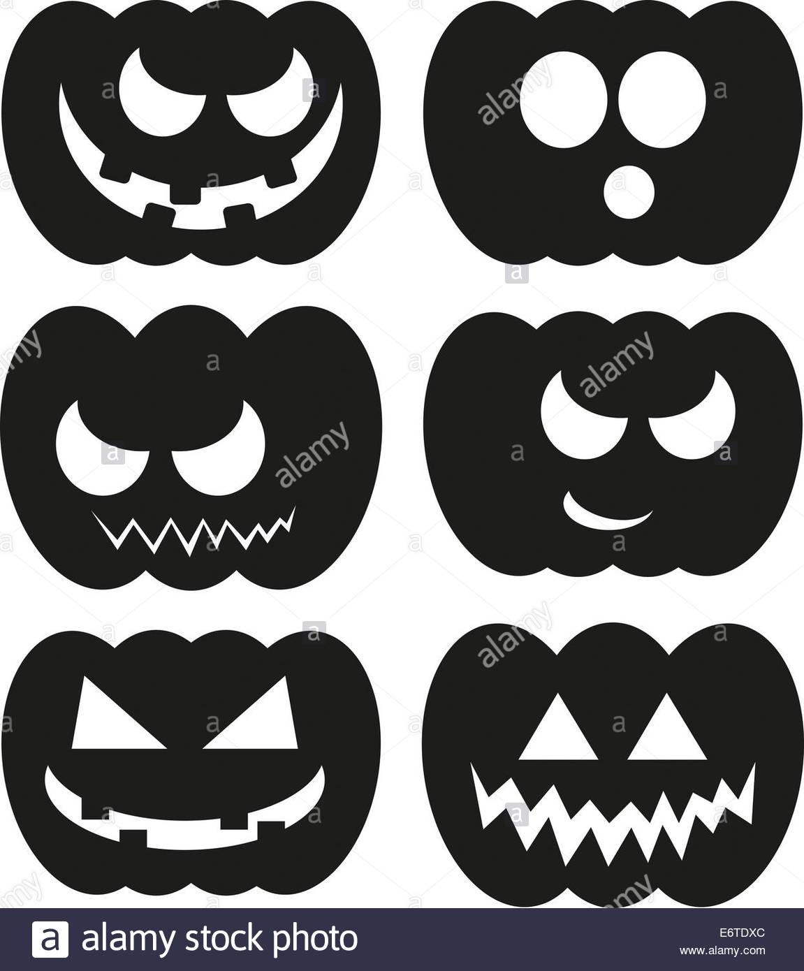 Halloween Kuerbis Kuerbisse Gesichter Ausdruck Gesichtsausdruck.