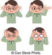 Auditory hallucination Vector Clipart Illustrations. 9.