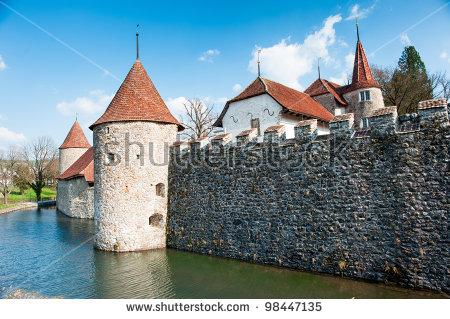 Hallwyl Water Castle Moat Seengen Aargau Stock Photo 98447135.