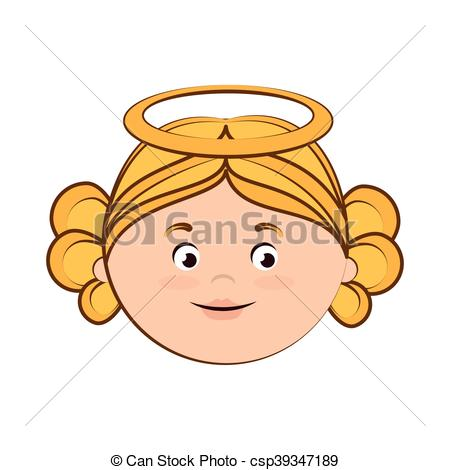 Vector of angel heaven halo girl icon vector.