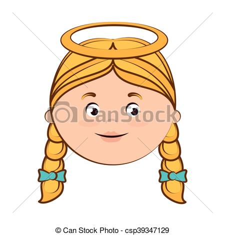 Vector Illustration of angel heaven halo girl hair icon vector.