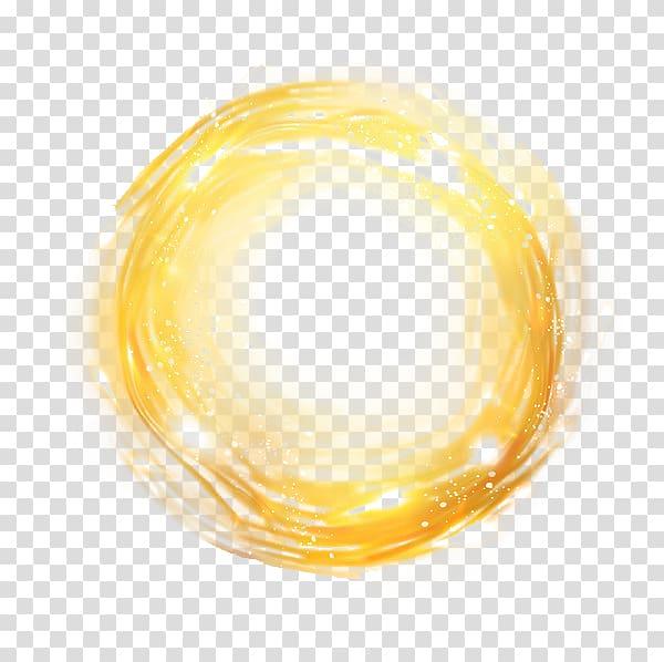 Round yellow light , Yellow Circle Font, Round halo.