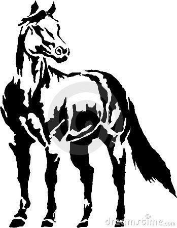 Western halter Horse Clip Art.