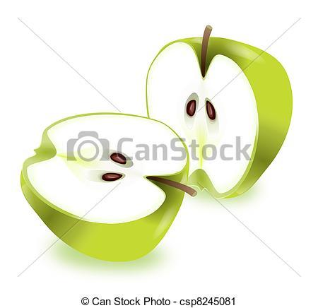Clipart of Apple halves..