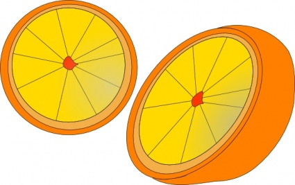 Orange Slice Clipart.