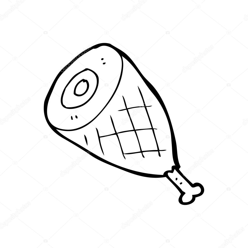 Ham Clipart Black And White.