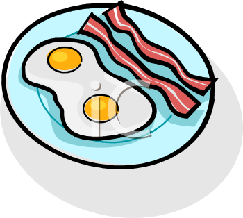 Ham and eggs clipart.