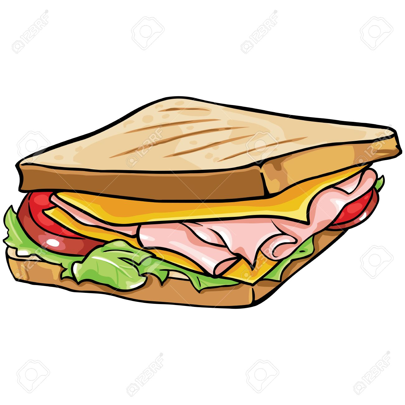ham sandwich clipart 10 free Cliparts | Download images on ...