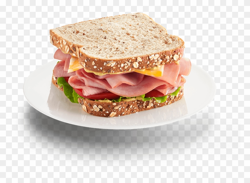 Natural Uncured Maple Smoked Ham Ham Sandwich.
