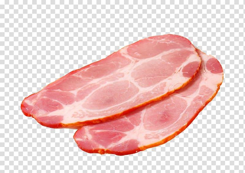 Sausage Ham Back bacon Prosciutto Capocollo, Sliced Ham.