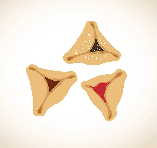 Best Hamantaschen Illustrations, Royalty.