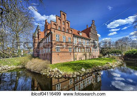 Stock Photograph of Bergedorf Castle, Hamburg, Germany, Europe.