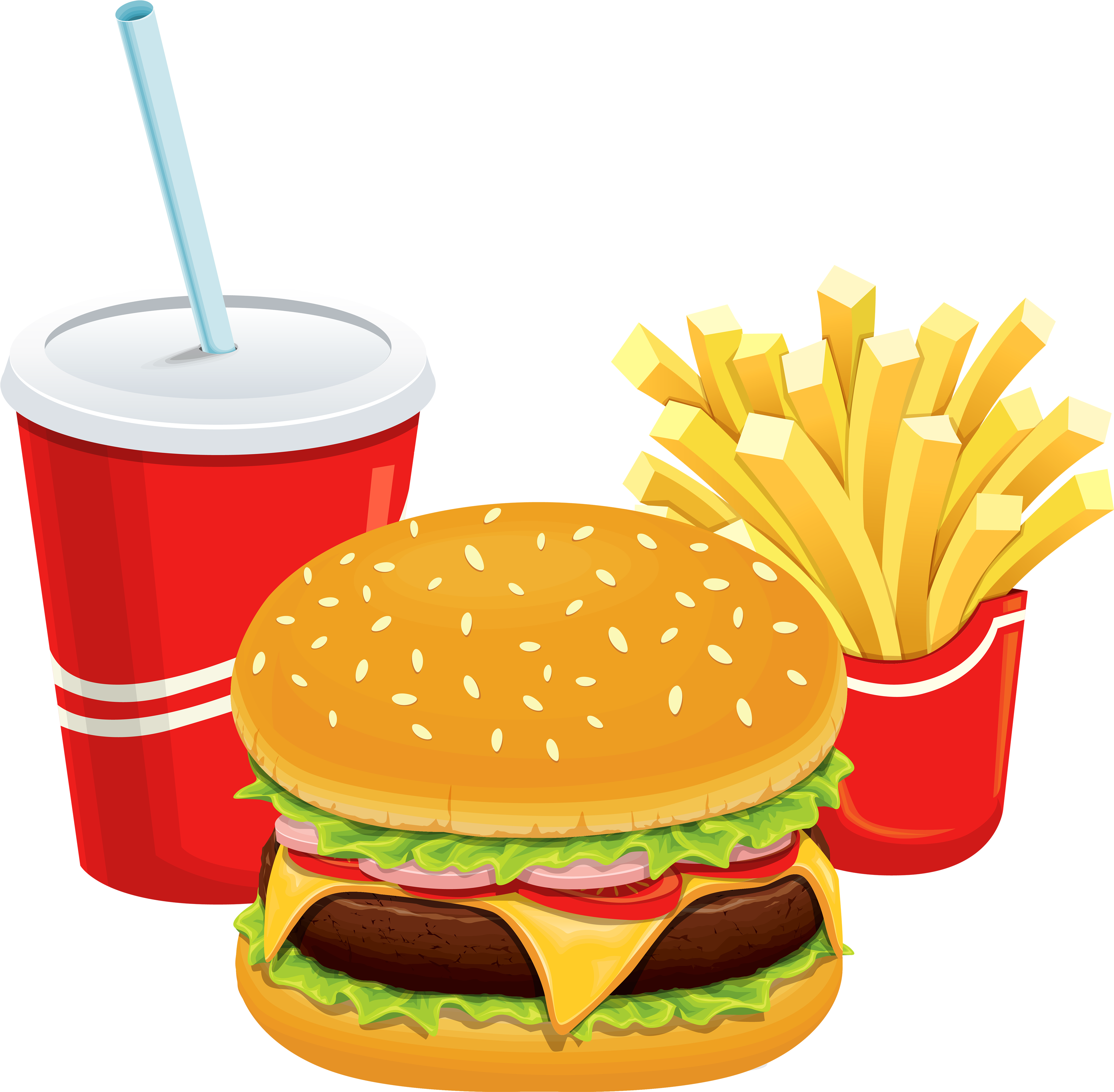 Clipart Of Restaurant, Breakfast And Foods.