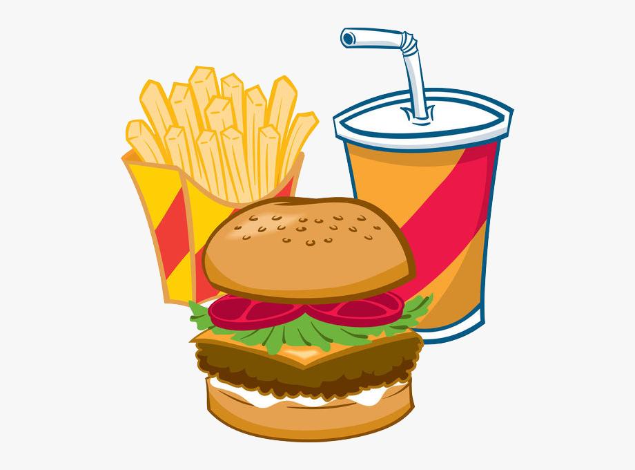 Clipart Hamburger And Fries.