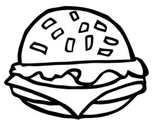 Hamburger clipart black and white 2 » Clipart Portal.