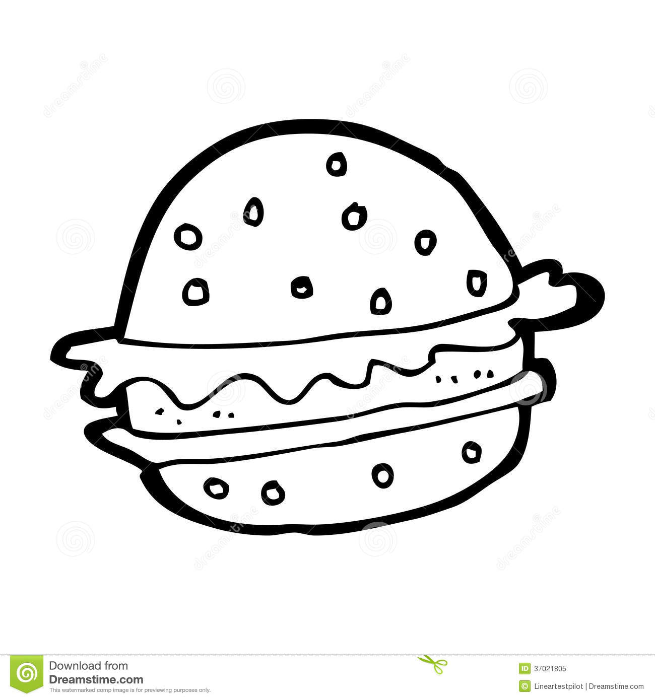 Hamburger Black And White Clipart Clipart Kid.
