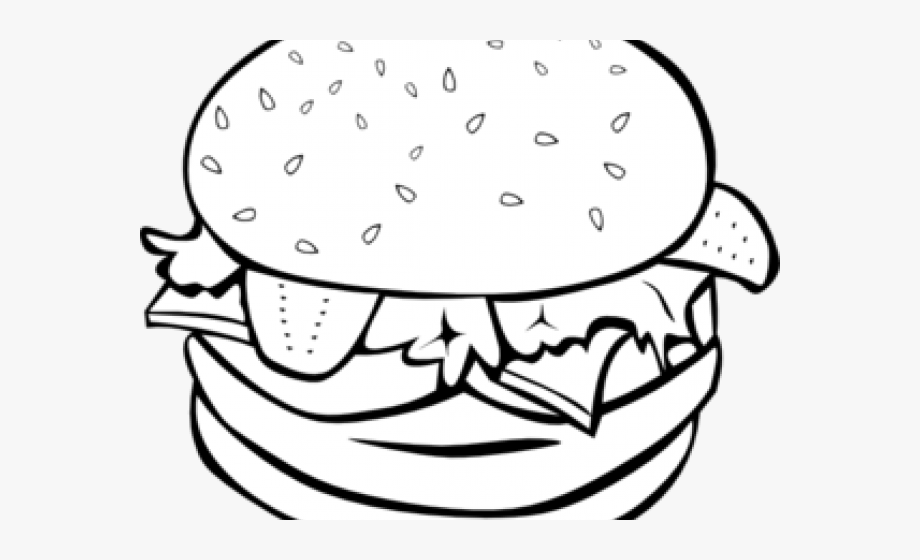 Hamburger Clipart Outline.