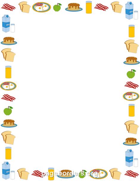 Food Border Clip Art.