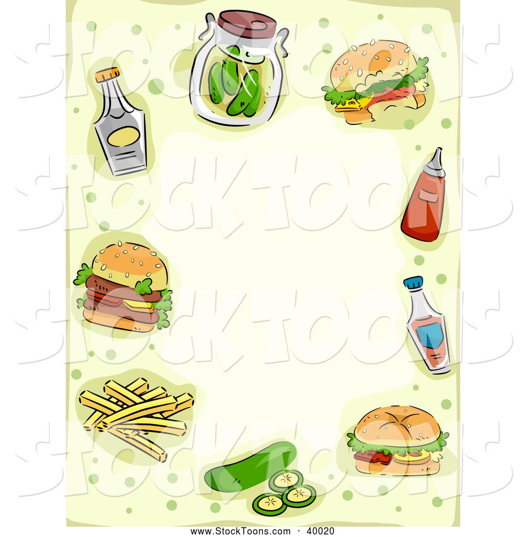 hamburger border clipart #3