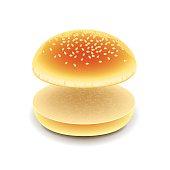 Free Hamburger Bun Clipart and Vector Graphics.
