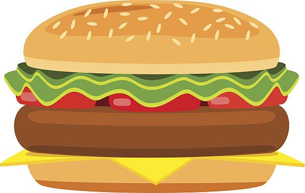Best Clip Art Of A Hamburger Bun Illustrations, Royalty.