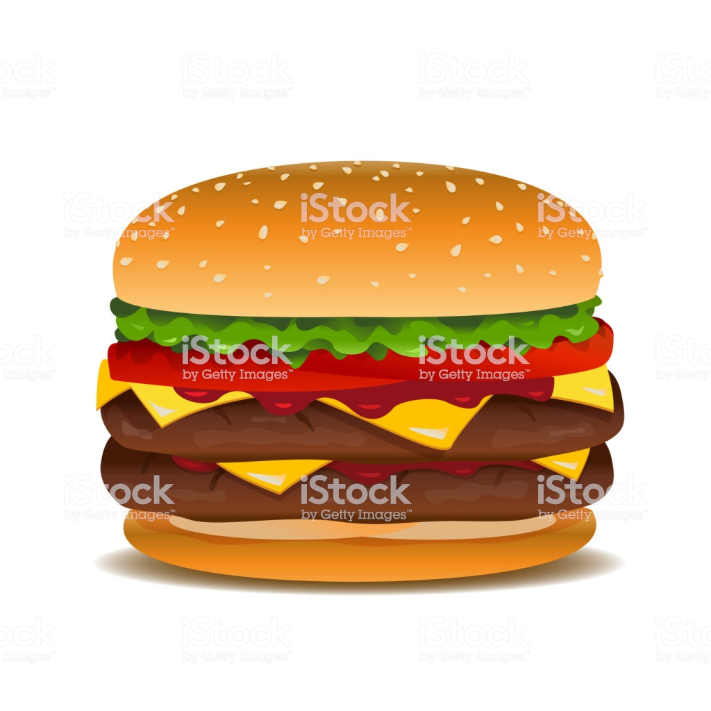 Vector Hamburger Clip Art Illustration Stock Illustration.