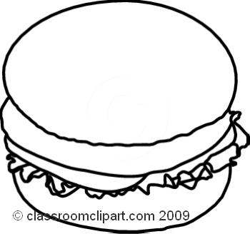 Hamburger Clipart Black And White.