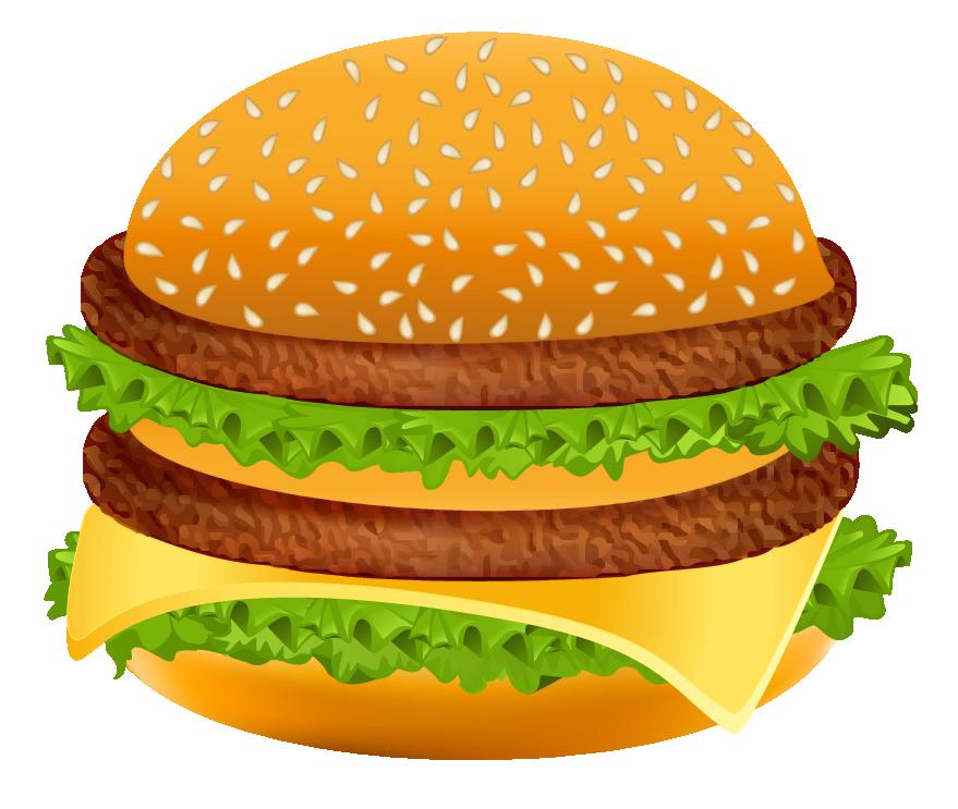 Hamburger clipart image.