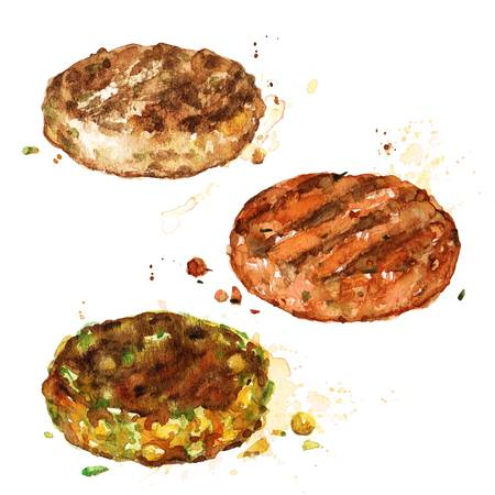 61 Burger Patties Stock Vector Illustration And Royalty Free Burger.