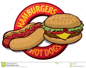 Clipart Hamburgers Hot Dogs.