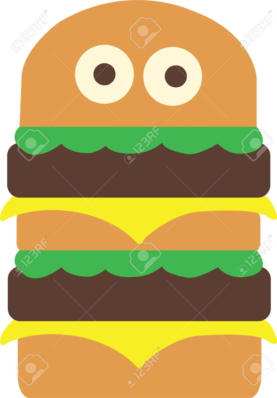 Rock And Roll Is The Hamburger That Ate The World. Royalty Free.