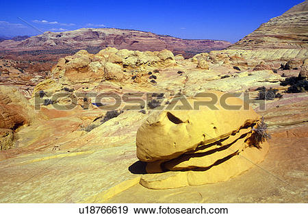 Stock Photograph of Close up of sandstone stripes, 'Hamburger Rock.