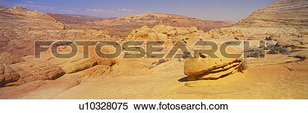 Stock Image of Hamburger Rock, The Wave, Sandstone Formation.
