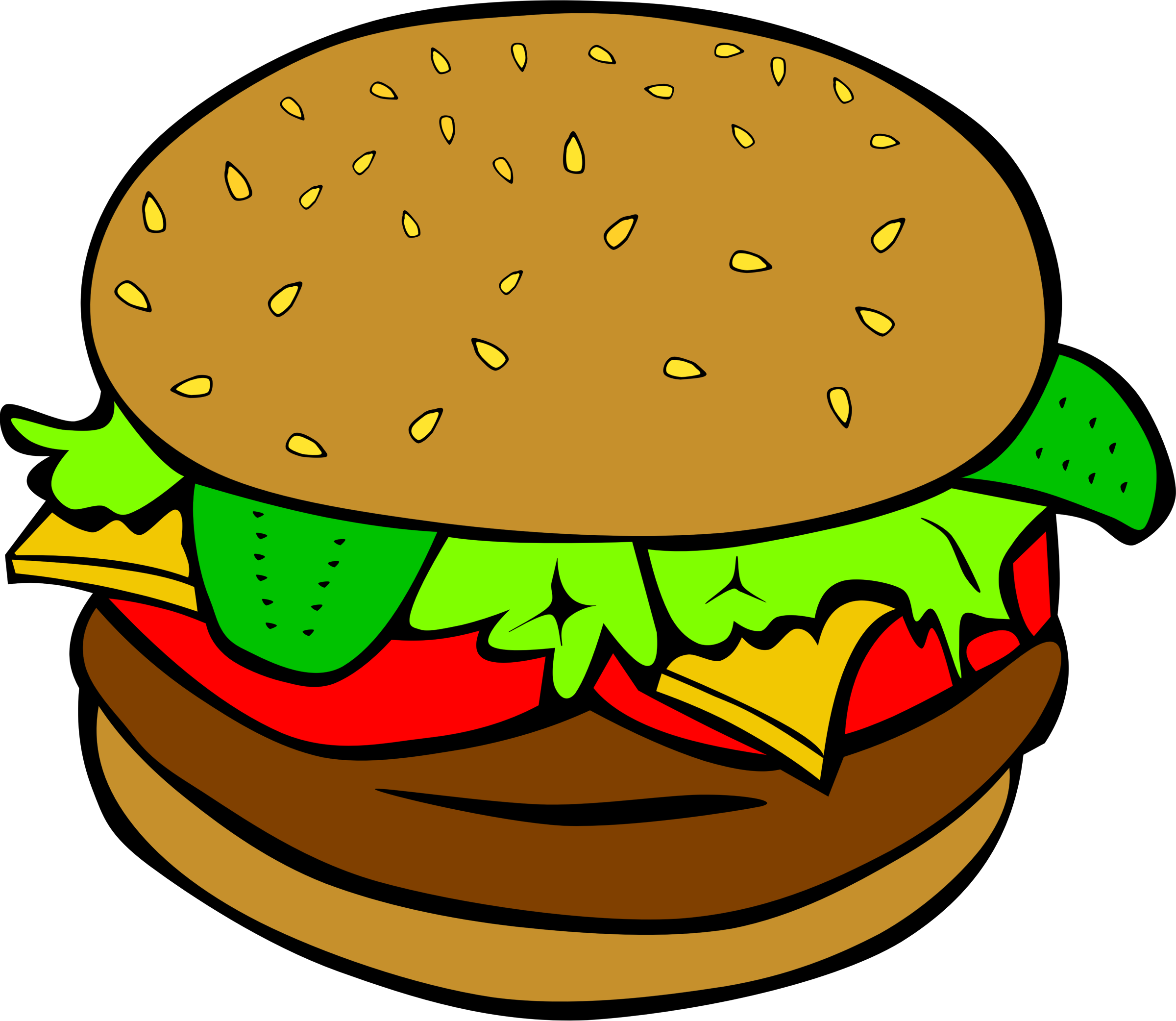 Hamburger Vector Art.