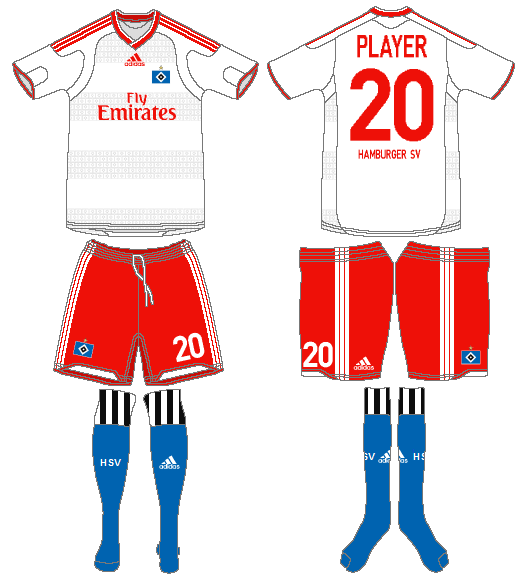 Hamburger SV Home Uniform.