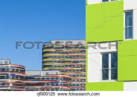 Stock Image of Germany,Hamburg, Modern Architecture, Ministry of.
