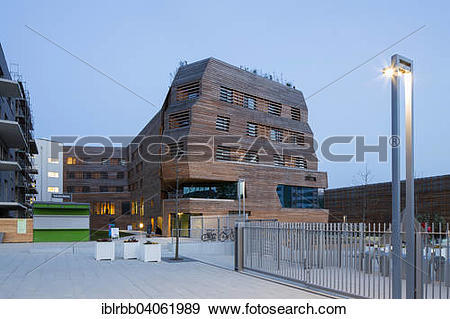 Stock Photograph of Walderhaus wooden house, hotel and permanent.