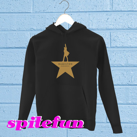 HAMILTON GOLD STAR LOGO BROADWAY MUSICAL HOODIE on The Hunt.