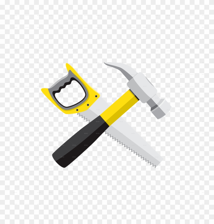 Hammer Saw Clipart (#599900).