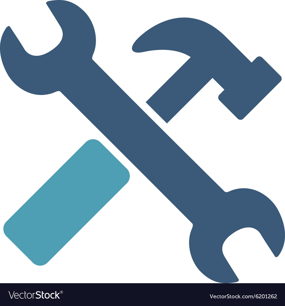 Hammer And Wrench Icon.