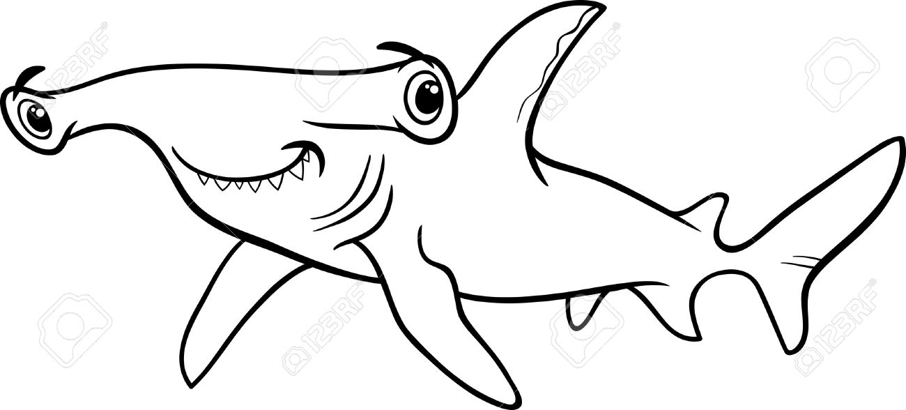 Hammerhead Shark Clipart Black And White.