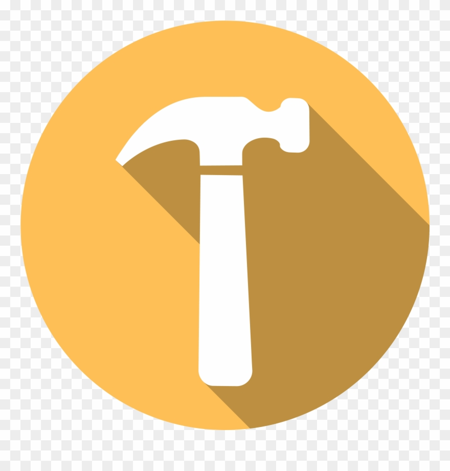 Icon Of A Hammer.
