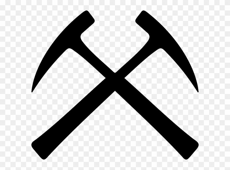 Crossed Rock Hammers Clipart Geologist\'s Hammer.