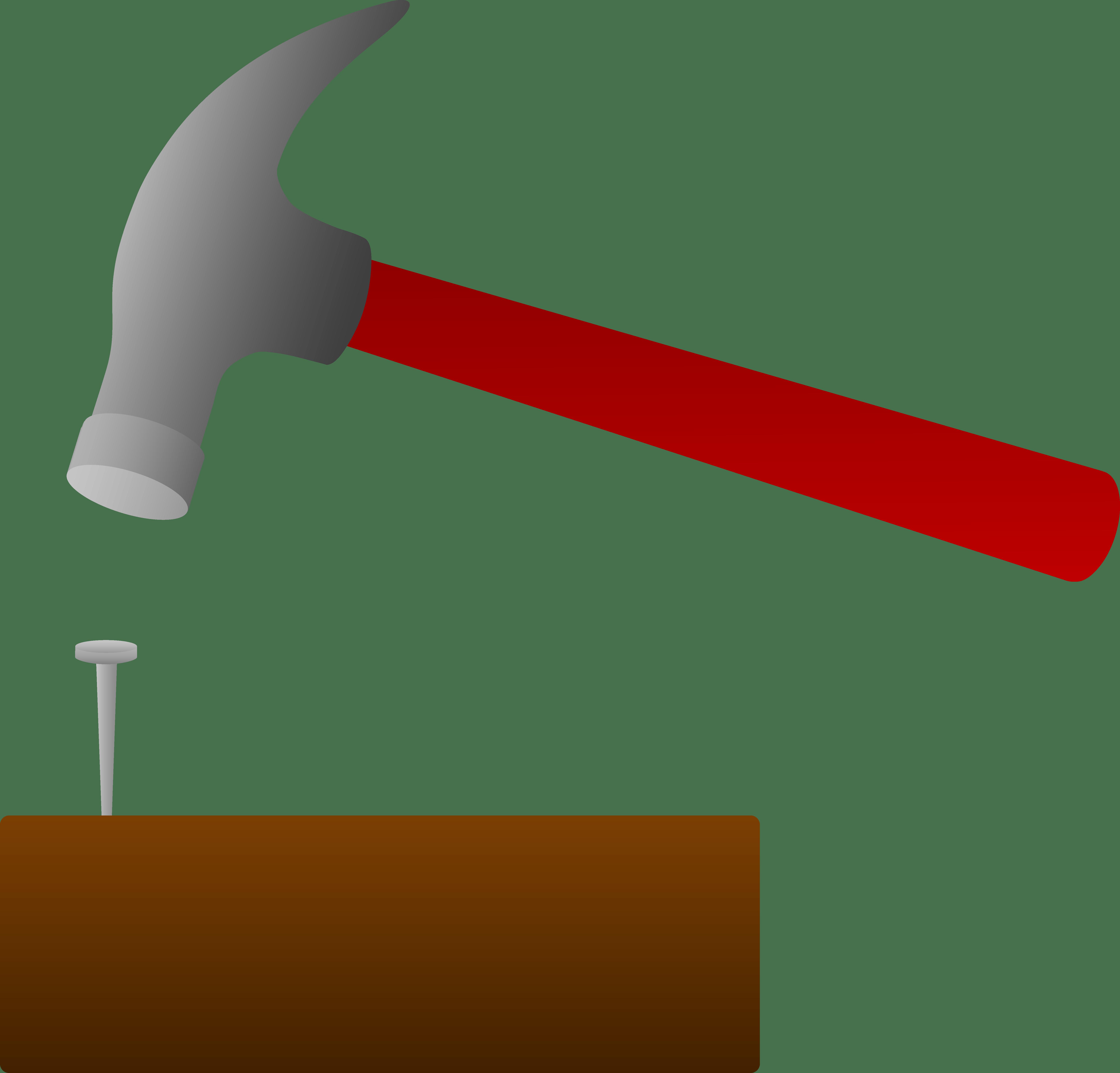 Nail clipart hammer outline, Nail hammer outline Transparent.