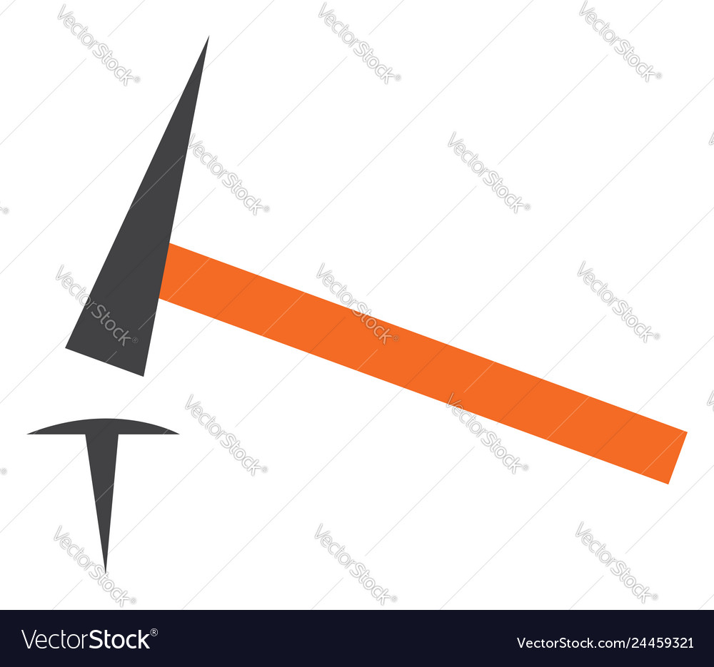 Hammer and nail clipart or color.